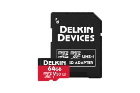 Delkin Trail Cam Action microSDxc (v30) R100/W50 64Gb